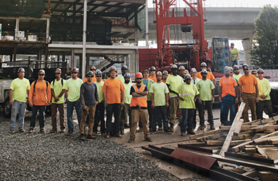Iron Workers Local 7 top off EF Education First building