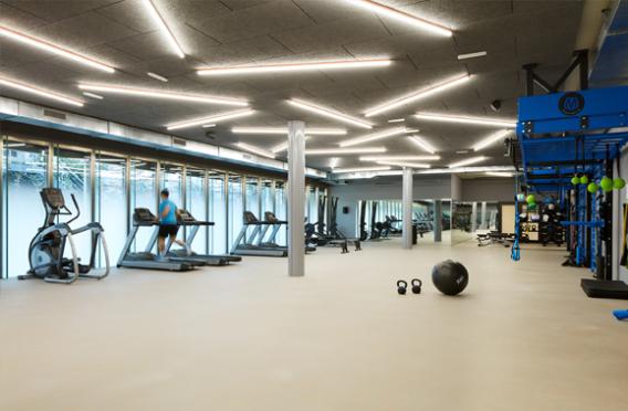 EF Zurich inside the gym